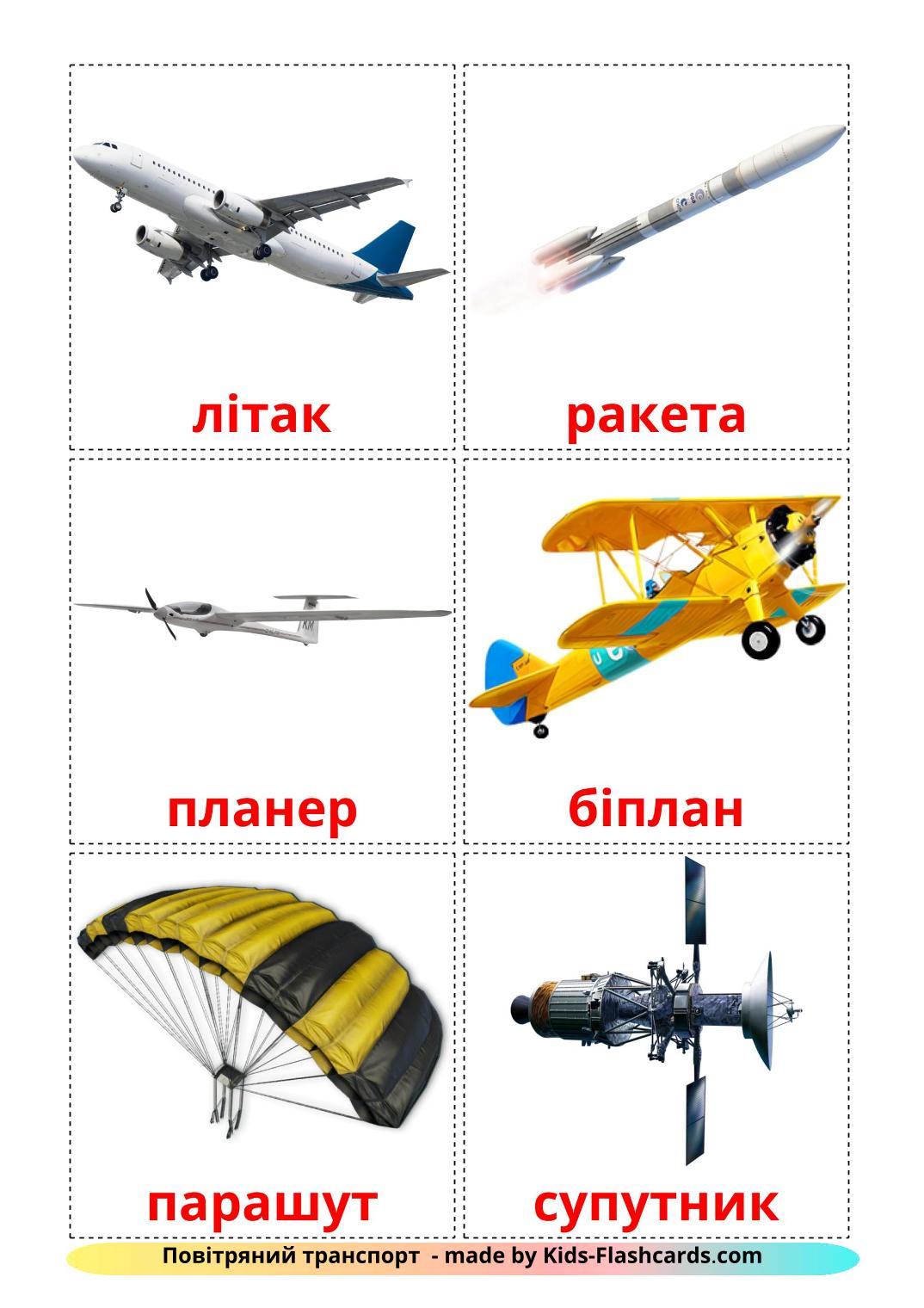 Aircraft - 14 Free Printable ukrainian Flashcards