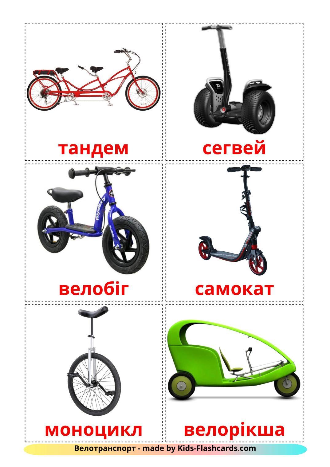 Bicycle transport - 16 Free Printable ukrainian Flashcards