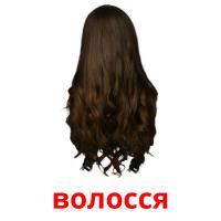 волосся picture flashcards