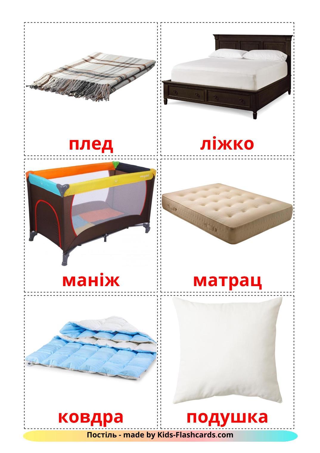 Bed - 15 Free Printable ukrainian Flashcards