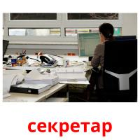 секретар picture flashcards