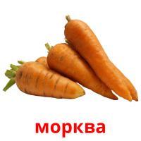 морква picture flashcards