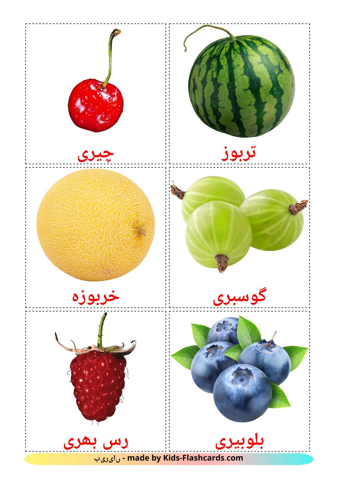 Berries - 11 Free Printable urdu Flashcards