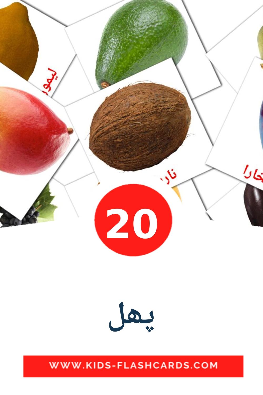 20 پھل Picture Cards for Kindergarden in urdu