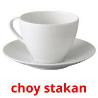 choy stakan picture flashcards