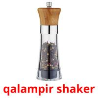 qalampir shaker picture flashcards