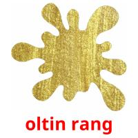 oltin rang picture flashcards