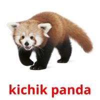 kichik panda picture flashcards