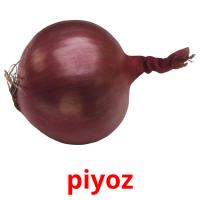 piyoz picture flashcards