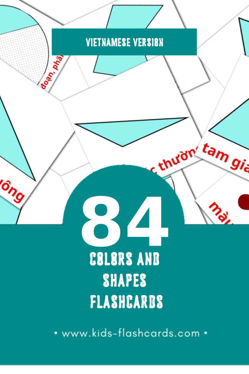Visual . Flashcards for Toddlers (12 cards in Vietnamese)