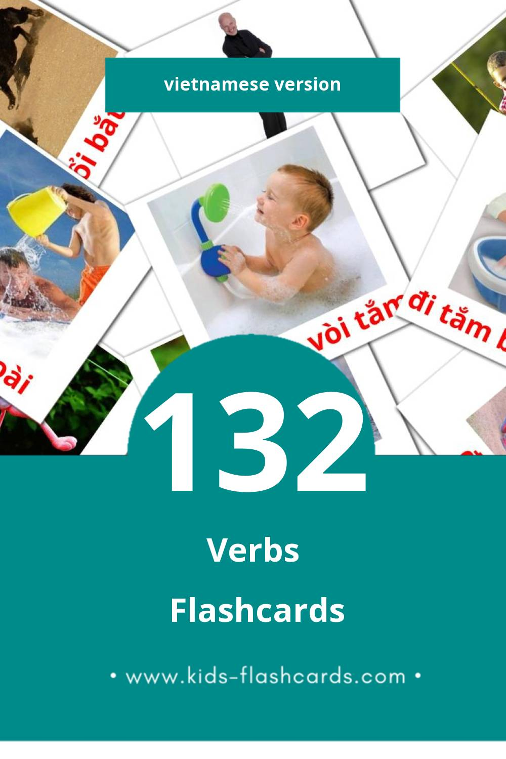 Visual Hoạt động Flashcards for Toddlers (133 cards in Vietnamese)