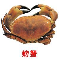 螃蟹 picture flashcards