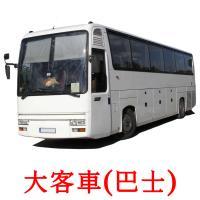 大客車(巴士) picture flashcards