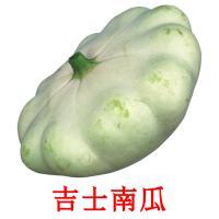 吉士南瓜 picture flashcards