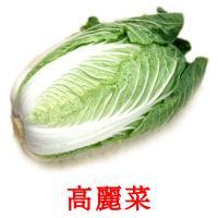 高麗菜 picture flashcards
