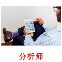 分析师 picture flashcards