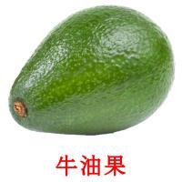 牛油果 picture flashcards