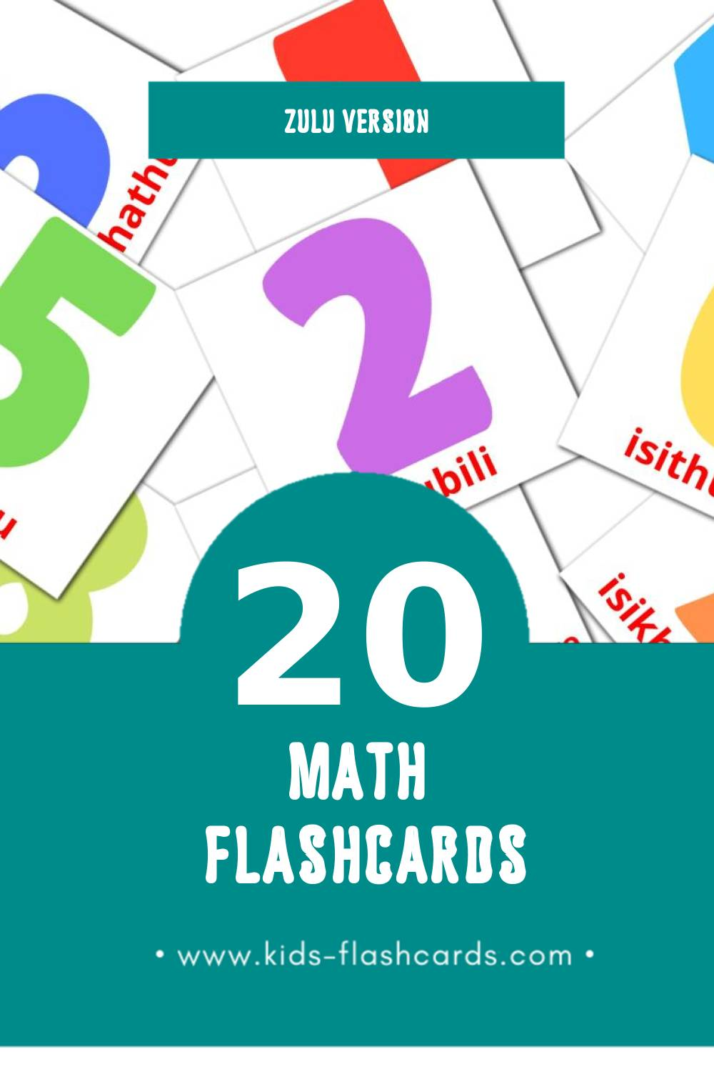 Visual Izibalo Flashcards for Toddlers (20 cards in Zulu)