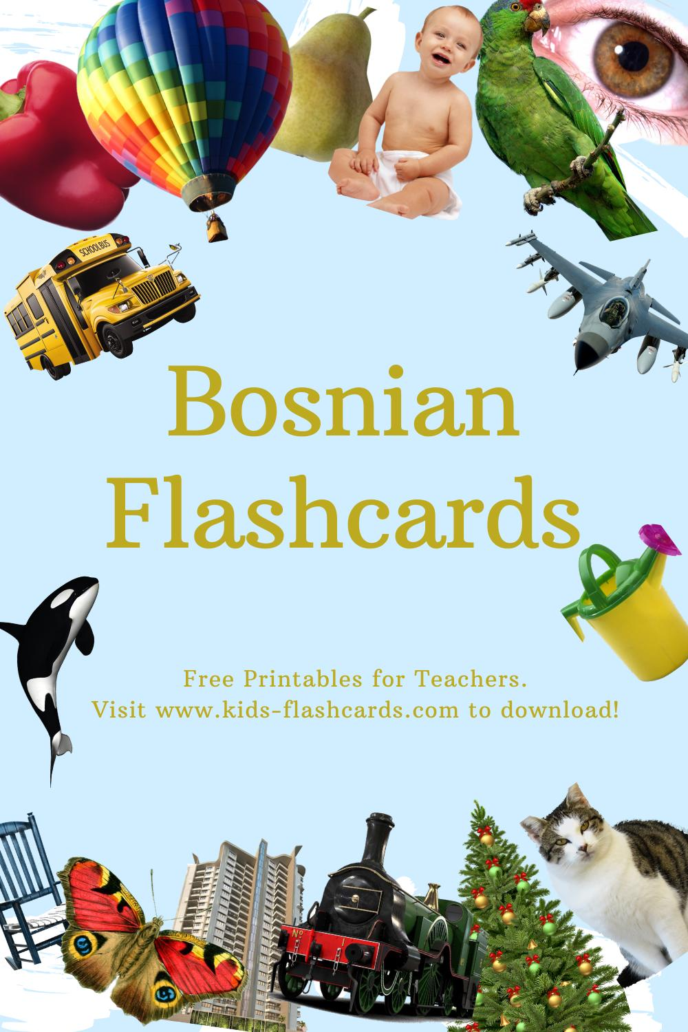 Worksheets to learn Bosnian language