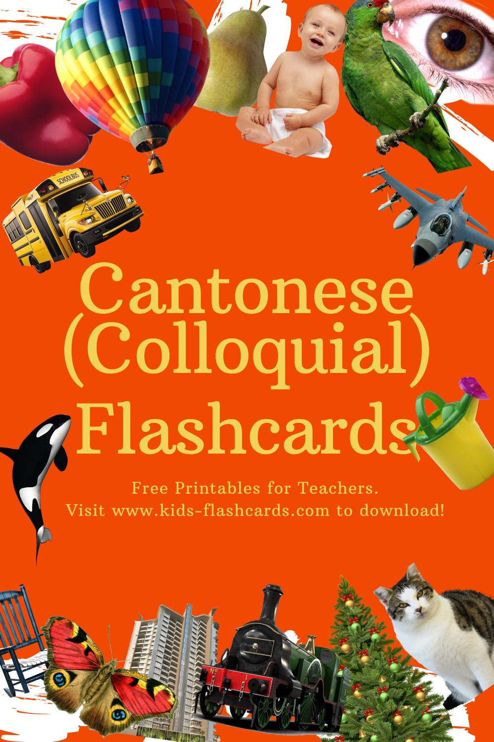 Worksheets to learn Cantonese(Colloquial) language