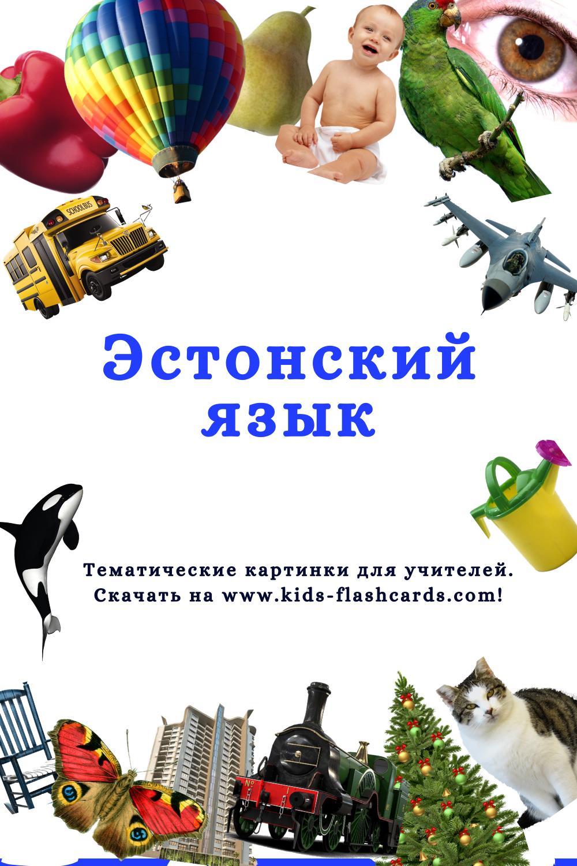 Эстонский язык - распечатки для детей
