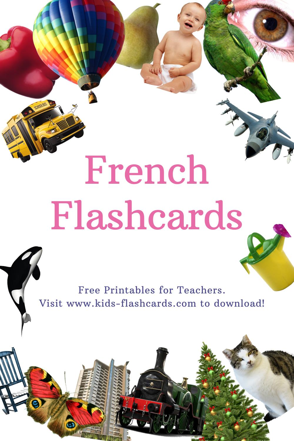 Worksheets to learn French language