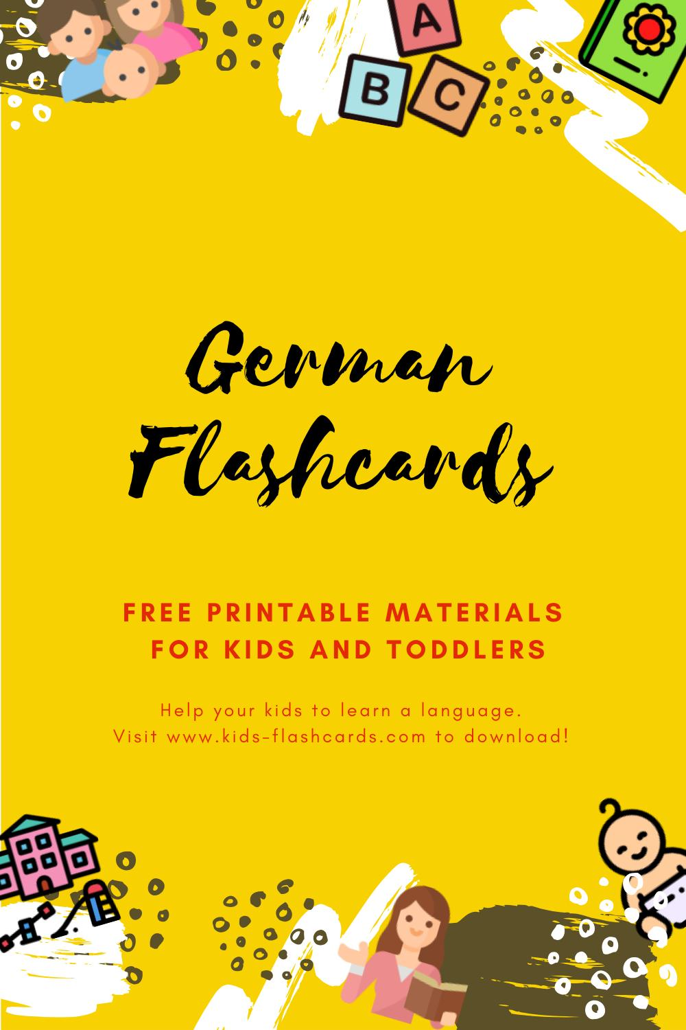 Free German Printables