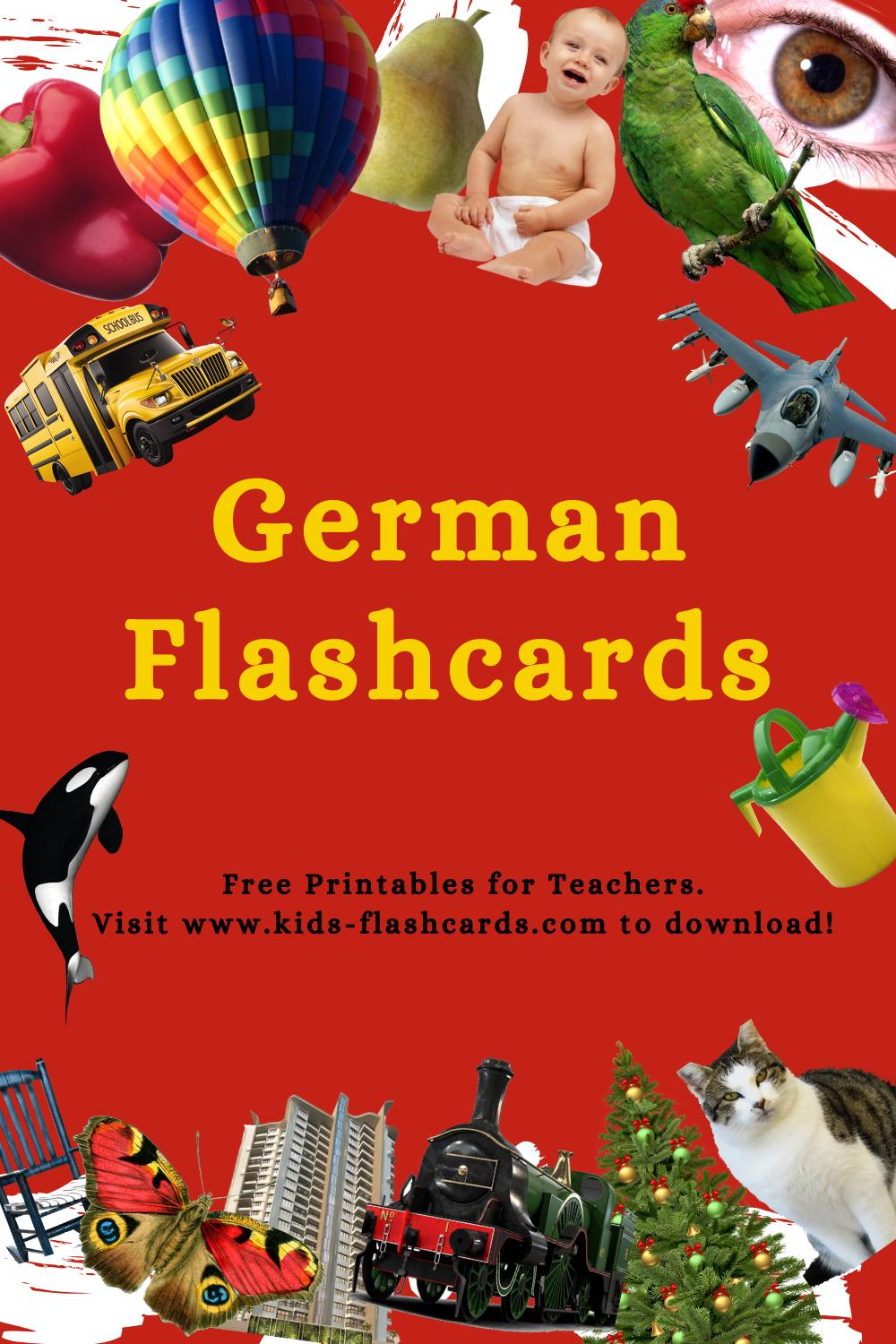 Worksheets to learn German language