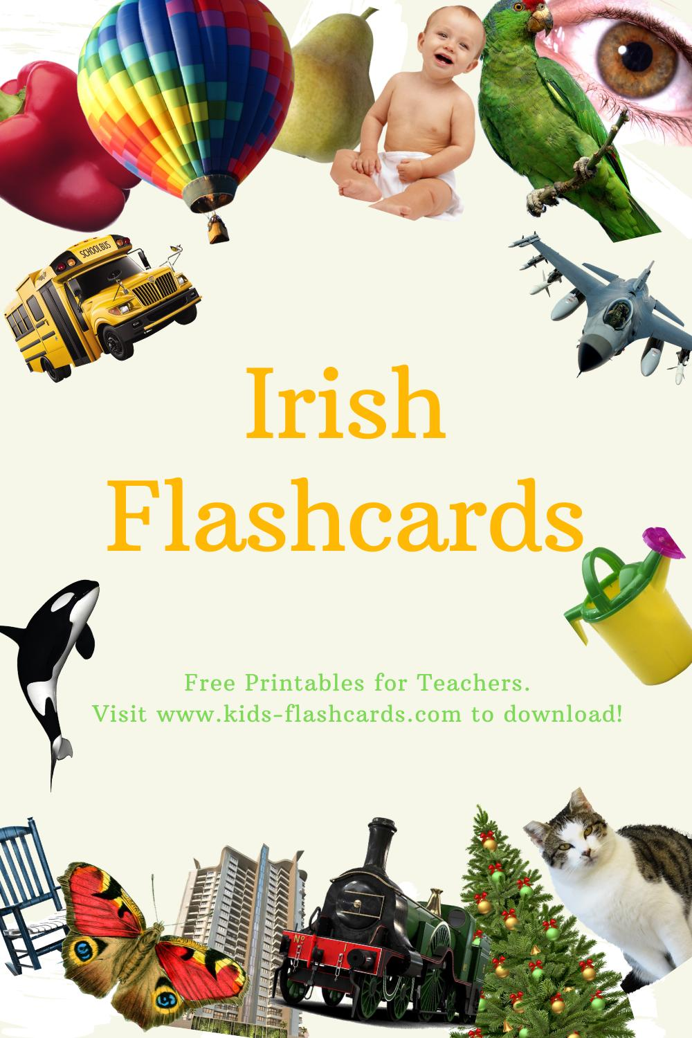 Worksheets to learn Irish language