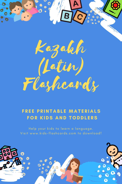 Free Kazakh(latin) Printables