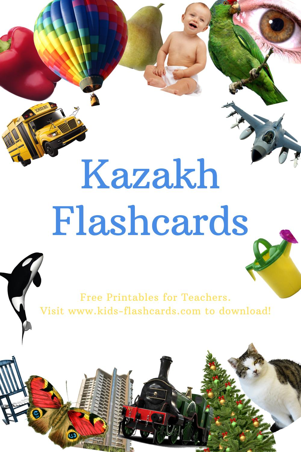 Worksheets to learn Kazakh language