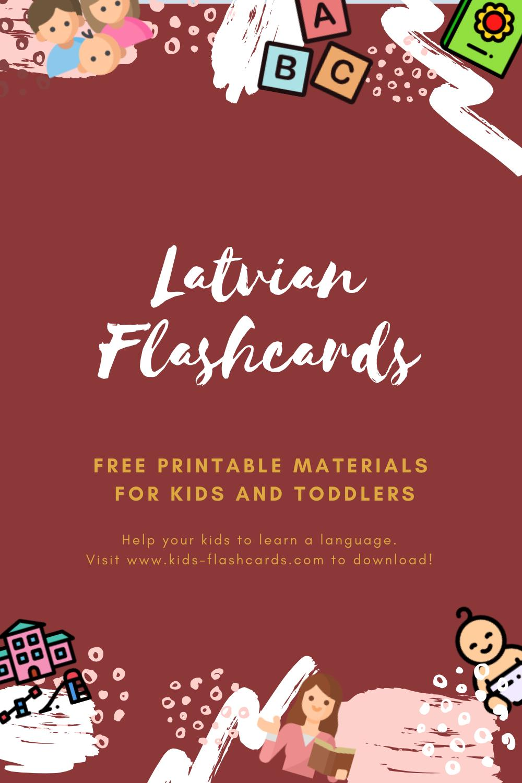 Free Latvian Printables