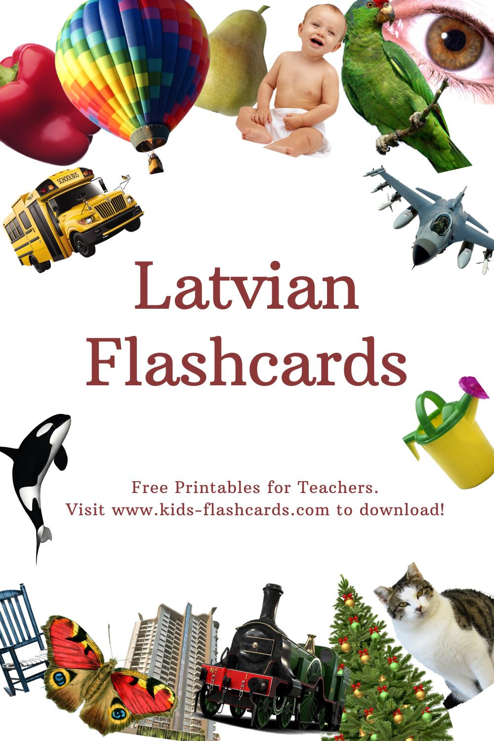 Worksheets to learn Latvian language