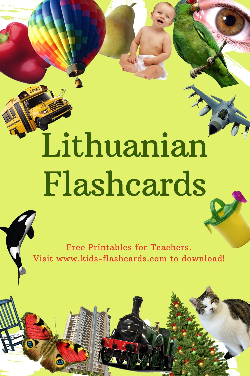 Worksheets to learn Lithuanian language