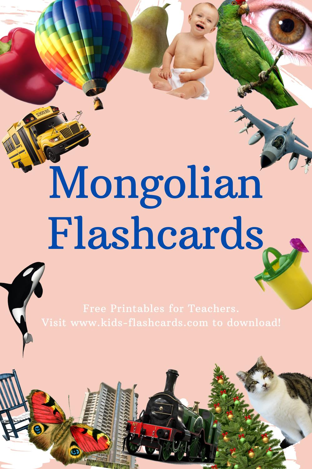 Worksheets to learn Mongolian language