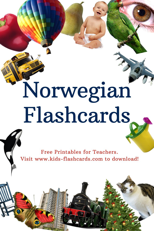 Worksheets to learn Norwegian language