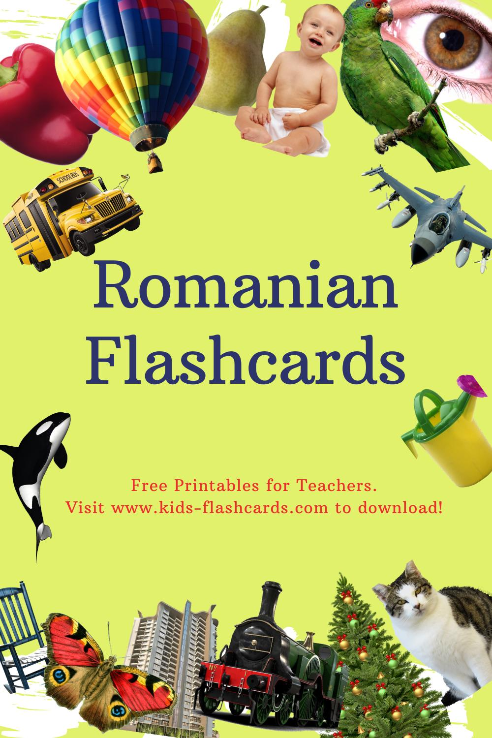 Worksheets to learn Romanian language