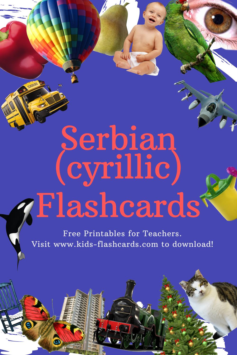 Worksheets to learn Serbian(cyrillic) language
