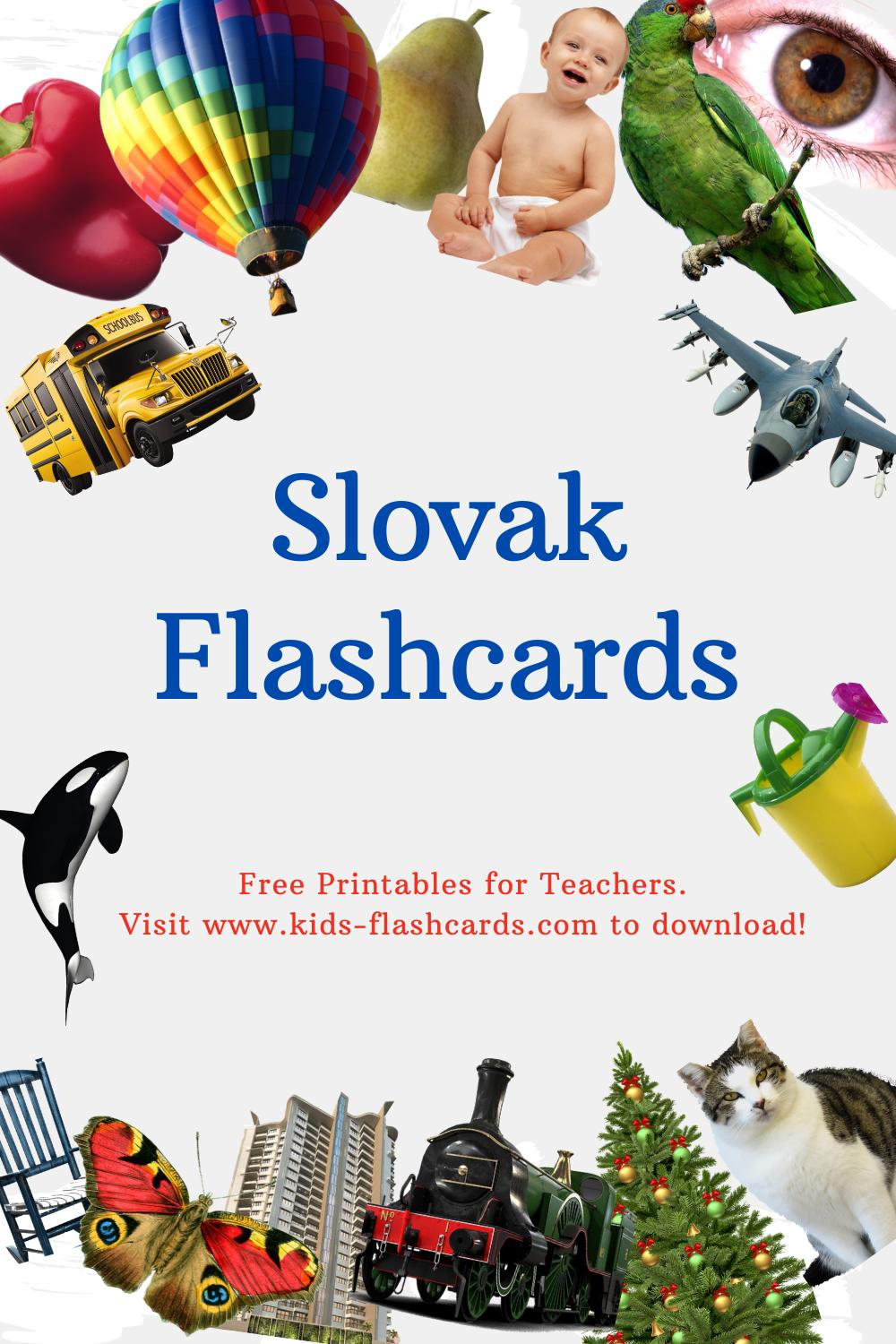 Worksheets to learn Slovak language