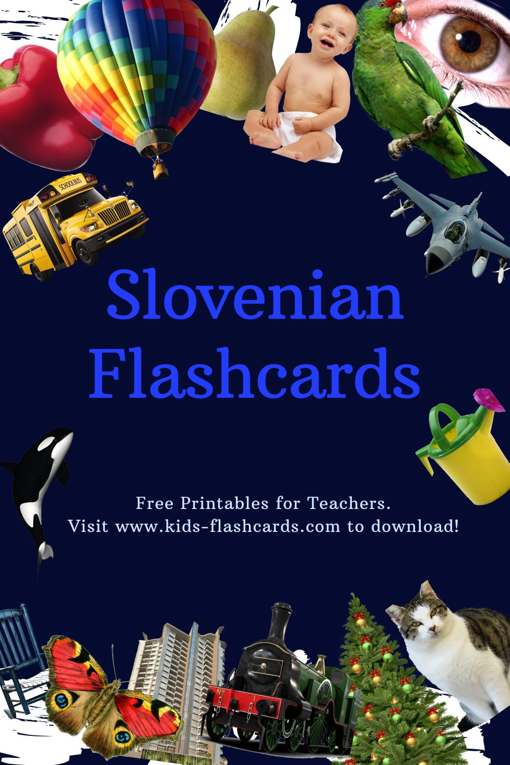 Worksheets to learn Slovenian language