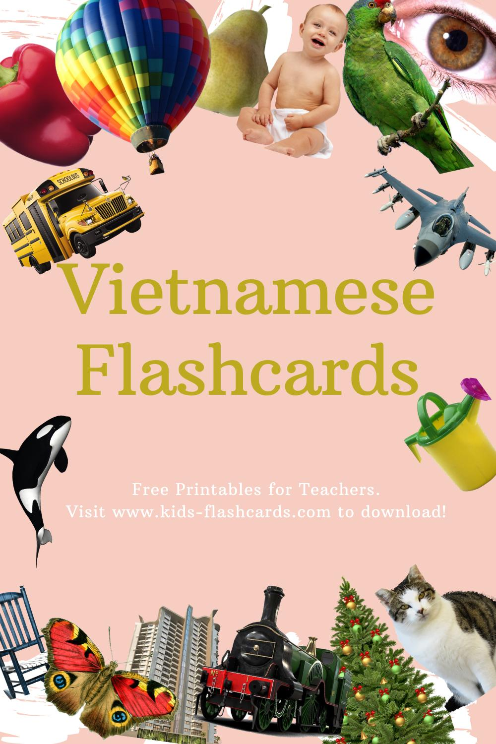 Worksheets to learn Vietnamese language