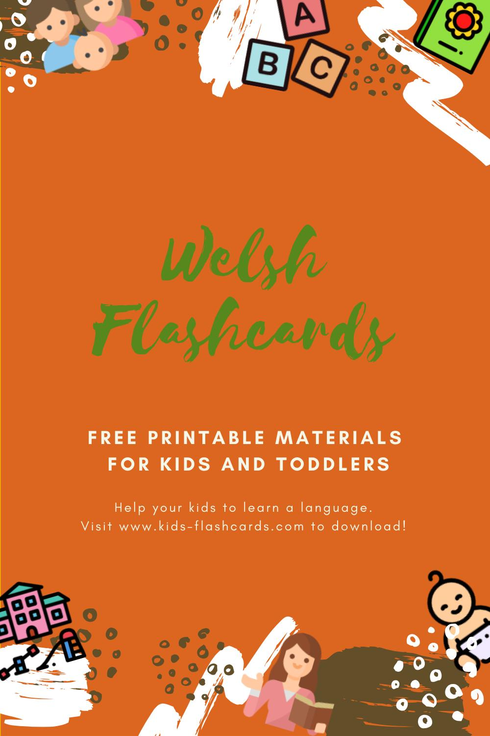 Free Welsh Printables